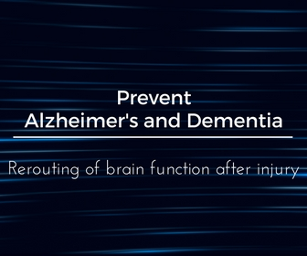 Prevent Alzheimer's and Dementia - rerouting of brain function after injury